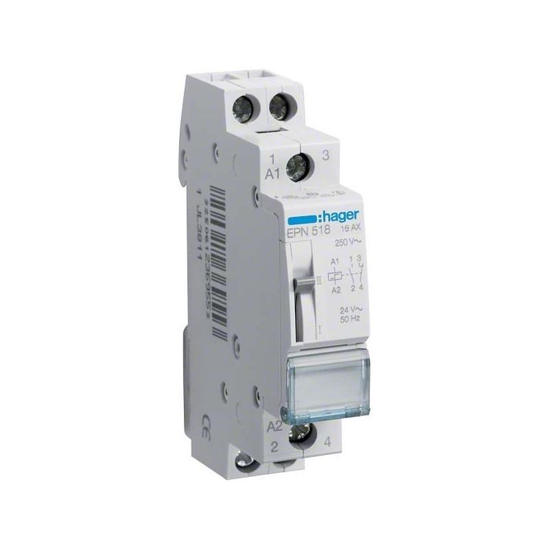 Hager - {reference} - Hager - EPN518 - Télérupteur 1O+1F 24V