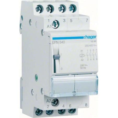 Hager - {reference} - Télérupteur 4F 230V