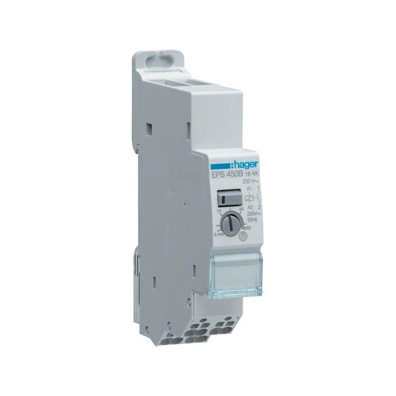 Hager - {reference} - Télérupteur électronique minuterie 1F 230V SanVis