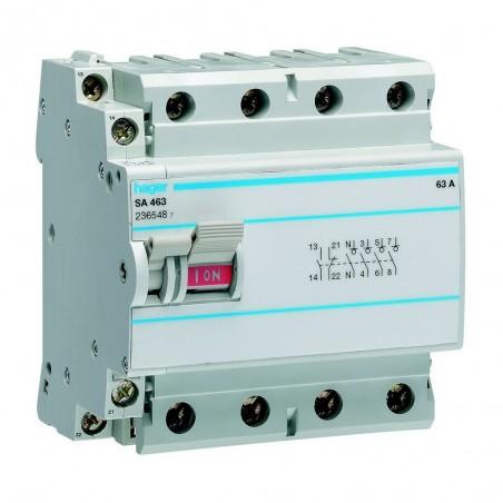 Hager - {reference} - Interrupteur à déclenchement libre 4P 63A