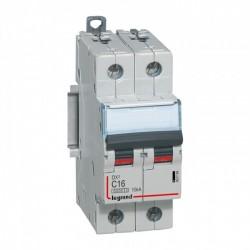 Legrand - {reference} - Legrand - 407782 - Disjoncteur DX³6000 10kA arrivée haute et départ bas à vis 2P 230V~ à 400V~ - 10A -