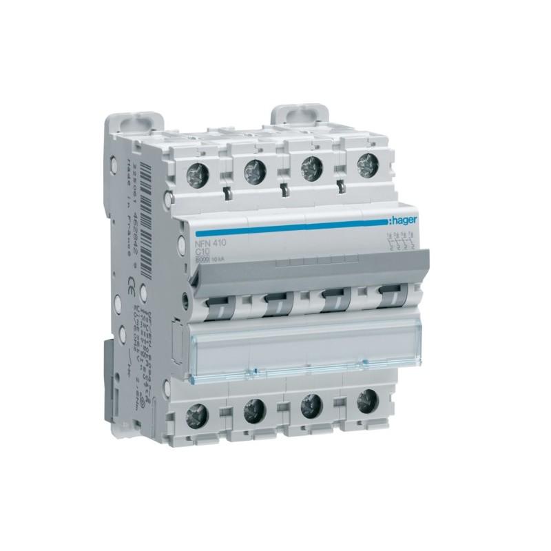 Hager - {reference} - Disjoncteur 4P 10/15kA C-20A 4M