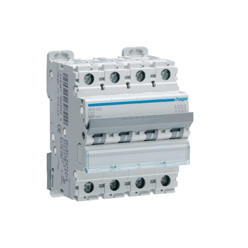 Hager - {reference} - Disjoncteur 4P 6/10kA C-16A 4M