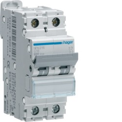 Hager - {reference} - Disjoncteur 4P 6/10kA C-50A 4M