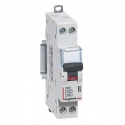 Legrand - {reference} - Legrand - 406803 -Disjoncteur DNX3 4500 - vis/vis - U+N 230V~ 20A - 4,5kA - courbe D - départ