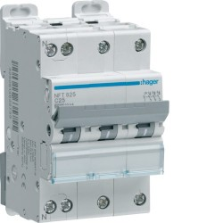 Hager - {reference} - Disjoncteur modulaire 3P+N 6-10kA C-10A 3m
