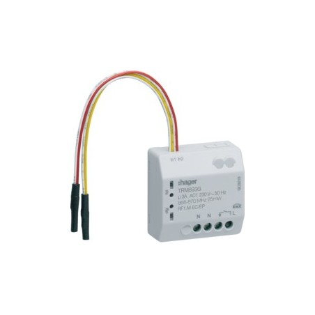 Hager - {reference} - Hager - TRM693G - 1 sortie 230V + 2E KNX radio