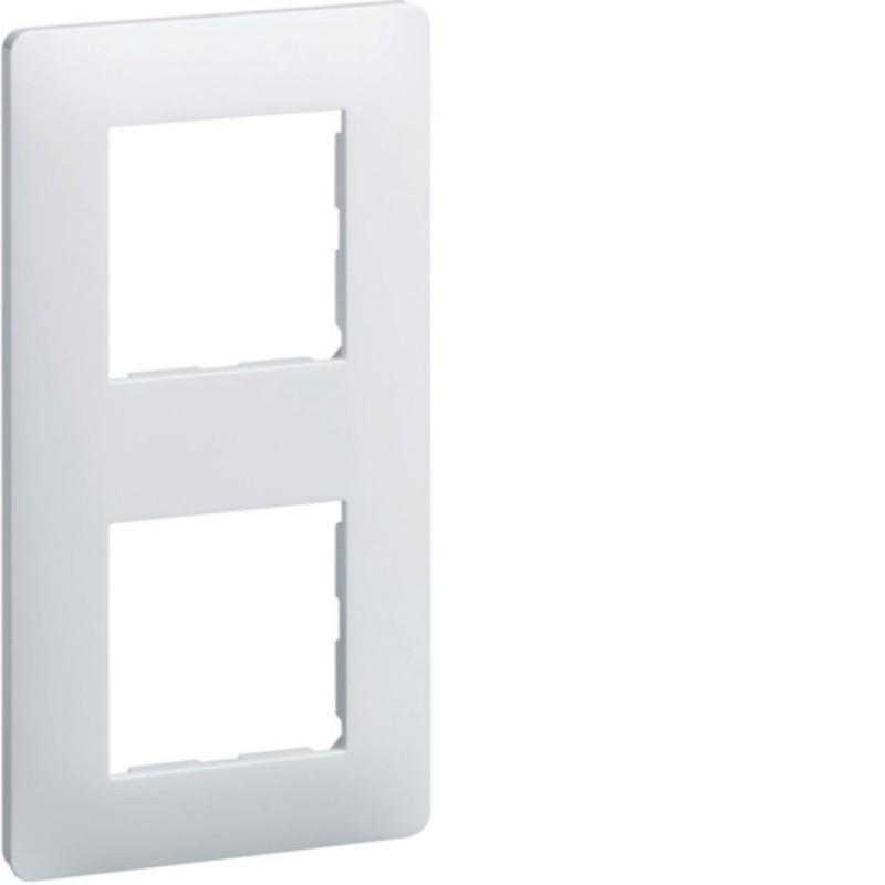HAGER | Ess. Plaque 2 postes 71 Blanc