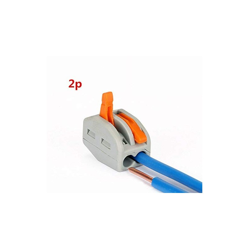 Wago - {reference} - Wago Contact - 222-412 - 50 Bornes WAGO 222 2x4mm2 a levier