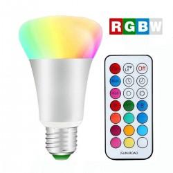 Ampoules RGBW avec télécommande