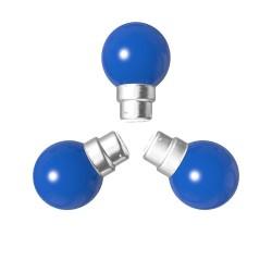 Lot de 3 ampoules bleues B22 Incassables avec...