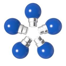 Lot de 5 ampoules bleues B22 Incassables avec...