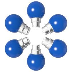Lot de 6 ampoules bleues B22 Incassables avec...