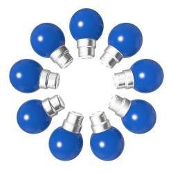 Lot de 9 ampoules bleues B22 Incassables avec...