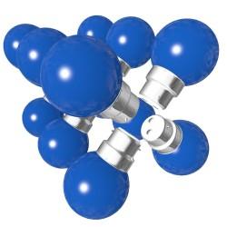 Lot de 12 ampoules bleues B22 Incassables avec...