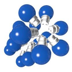 Lot de 18 ampoules bleues B22 Incassables avec...