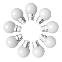 Lot de 9 ampoules blanches B22 Incassables avec...