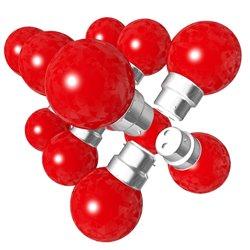 Lot de 12 ampoules rouges B22 Incassables avec...