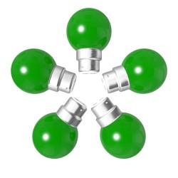 Lot de 5 ampoules vertes B22 Incassables avec...