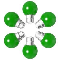 Lot de 6 ampoules vertes B22 Incassables avec...