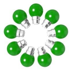 Lot de 9 ampoules vertes B22 Incassables avec...