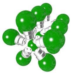 Lot de 15 ampoules vertes B22 Incassables avec...