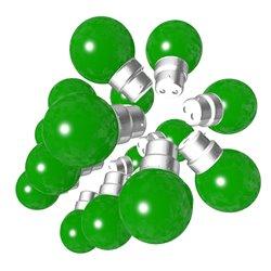 Lot de 18 ampoules vertes B22 Incassables avec...