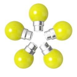 Lot de 5 ampoules jaunes B22 Incassables avec...