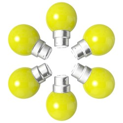Lot de 6 ampoules jaunes B22 Incassables avec...