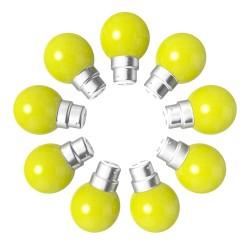 Lot de 9 ampoules jaunes B22 Incassables avec...