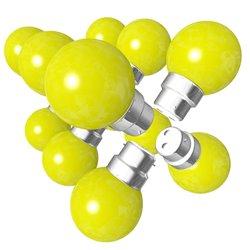 Lot de 12 ampoules jaunes B22 Incassables avec...