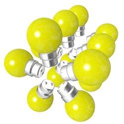 Lot de 15 ampoules jaunes B22 Incassables avec...