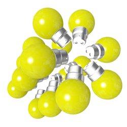 Lot de 18 ampoules jaunes B22 Incassables avec...
