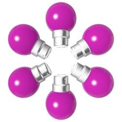 Lot de 6 ampoules roses B22 Incassables avec...