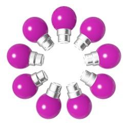 Lot de 9 ampoules roses B22 Incassables avec...