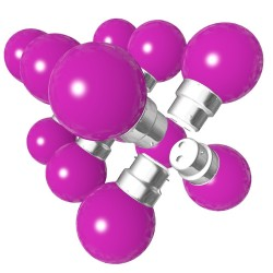Lot de 12 ampoules roses B22 Incassables avec...