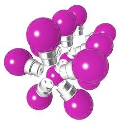 Lot de 15 ampoules roses B22 Incassables avec...
