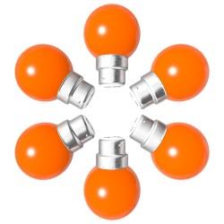 Lot de 6 ampoules orange B22 Incassables avec...