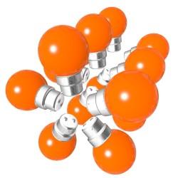 Lot de 15 ampoules orange B22 Incassables avec...