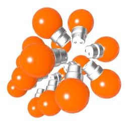 Lot de 18 ampoules orange B22 Incassables avec...