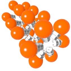 Lot de 24 ampoules orange B22 Incassables avec...