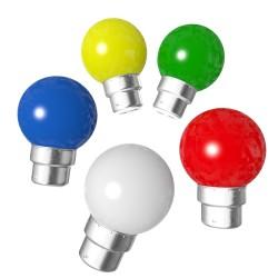 Lot de 5 ampoules bleues blanches rouges vertes...