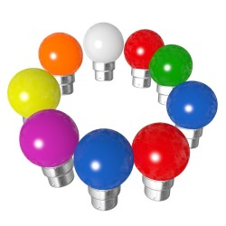 Lot de 9 ampoules bleues blanches rouges vertes...