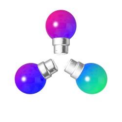 Lot de 3 ampoules RGB Incassables avec culot en...