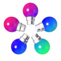 Lot de 5 ampoules RGB Incassables avec culot en...