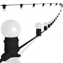 Rêvenergie | Guirlande guinguette 20 ampoules B22 Blanc 2x1,5