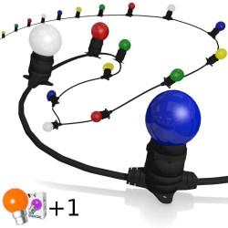 Guirlande guinguette B22 Multicolore 2x1,5