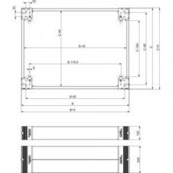Schneider Electric - NSYSPS4200 - 4 TRAP.LAT.SOCLE200X400