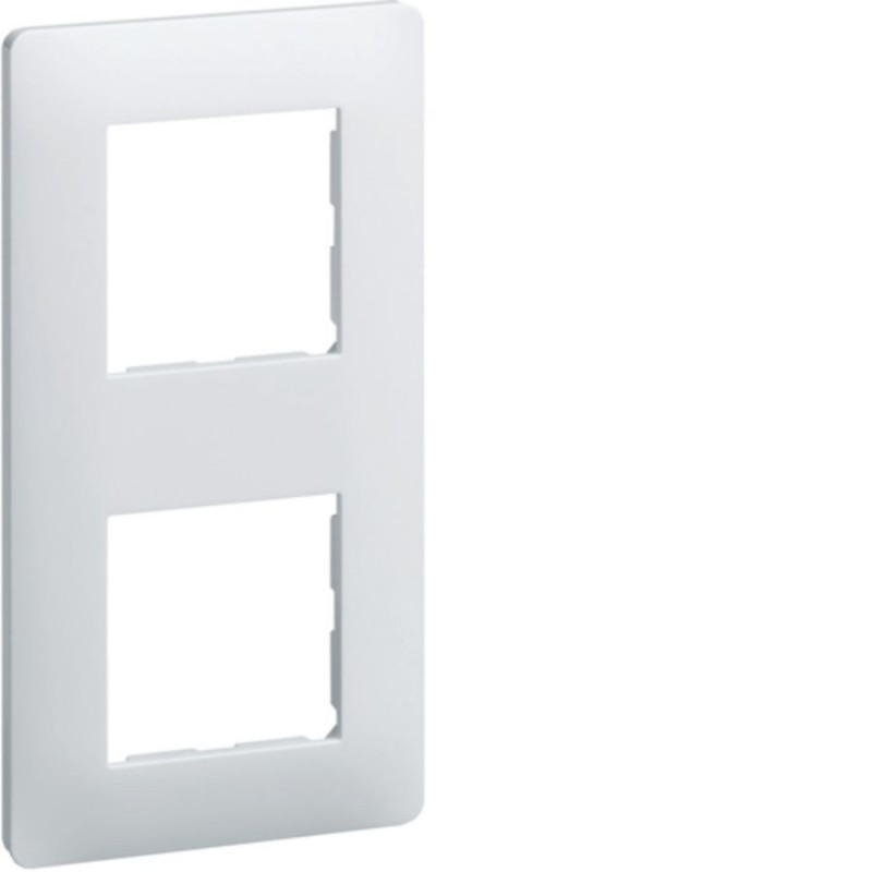 Hager - {reference} - Hager SAS - WE406 - Ess. Plaque 2 postes 57 Blanc