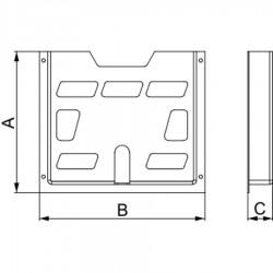 Schneider Electric - NSYDPA4 - PORTE SCHEMA PLASTIC 4